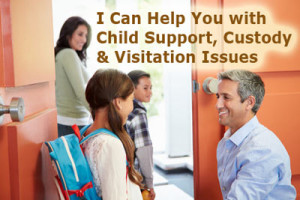 Family law child support child custody child visitation california